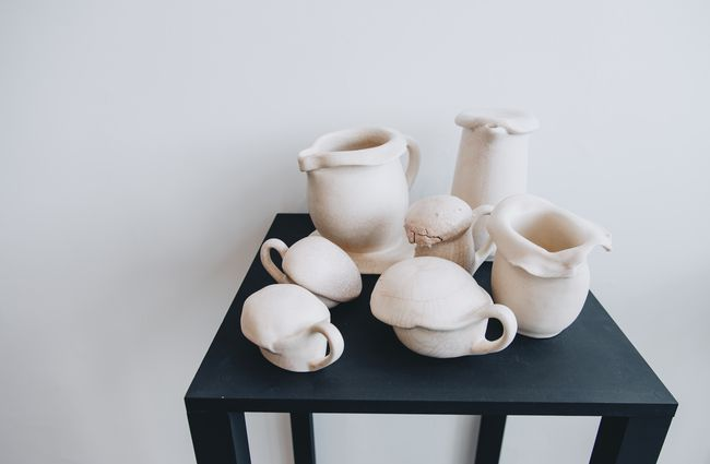 Ceramics on a table.