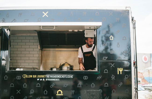 Close Up Of Chef In Food Truck
