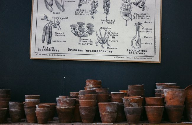 Old pots on display.