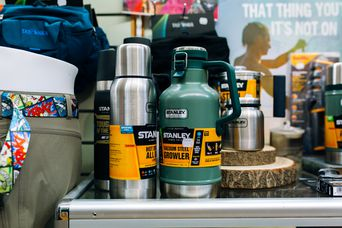 Thermos' on display at Trek 'n' Travel, Hamilton.