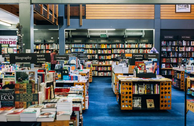 The inside of the University of Canterbury Bookshop.