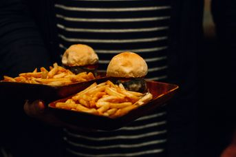 Two sliders with fries at Wonder Horse, Hamilton.