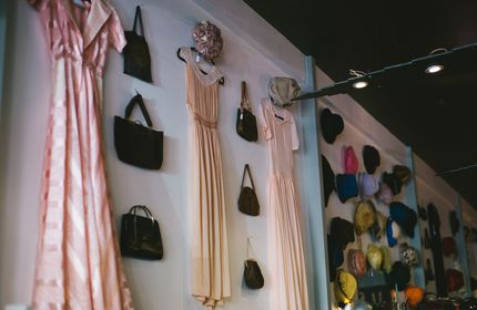 Dresses and bags.