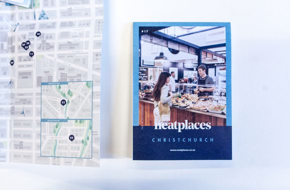 A photo of the Christchurch pocket guide.
