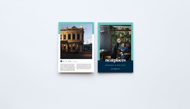 Front and back cover of the Oamaru pocket guide.