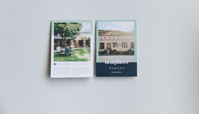 A photo of the latest Neat Places Wanaka pocket guide.
