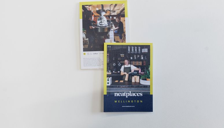 A photo of the latest Neat Places Wellington pocket guide.